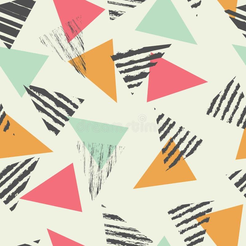 Modelo inconsútil con la menta del color, vector del triángulo geométrico libre illustration