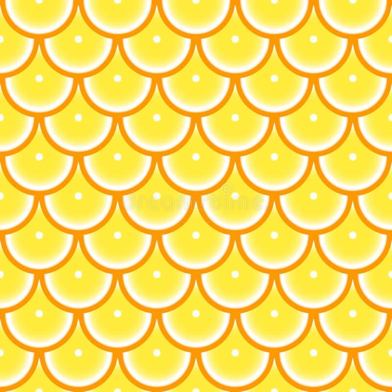 Modelo inconsútil con la naranja abstraiga el fondo Ilustración del vector libre illustration