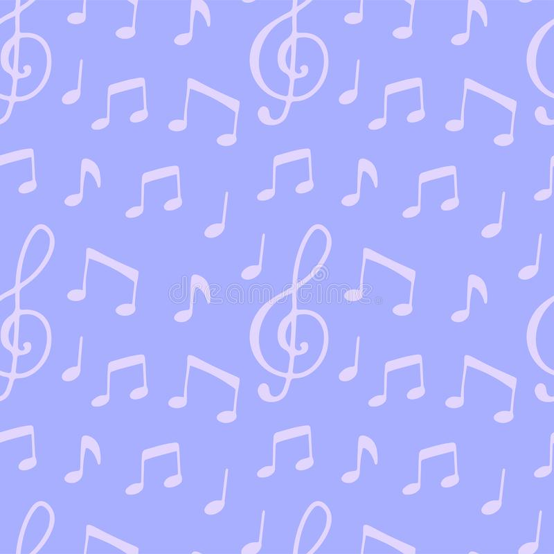 Modelo inconsútil con la nota de la música libre illustration