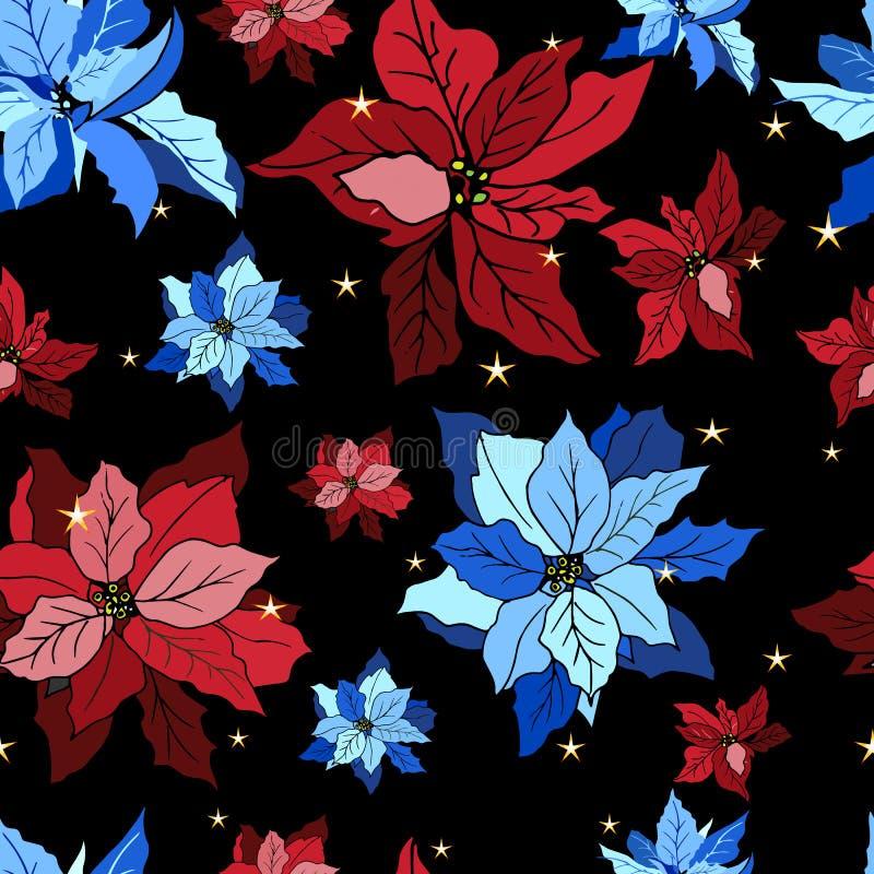 Modelo inconsútil con la teja del ornamento de las flores del vector libre illustration