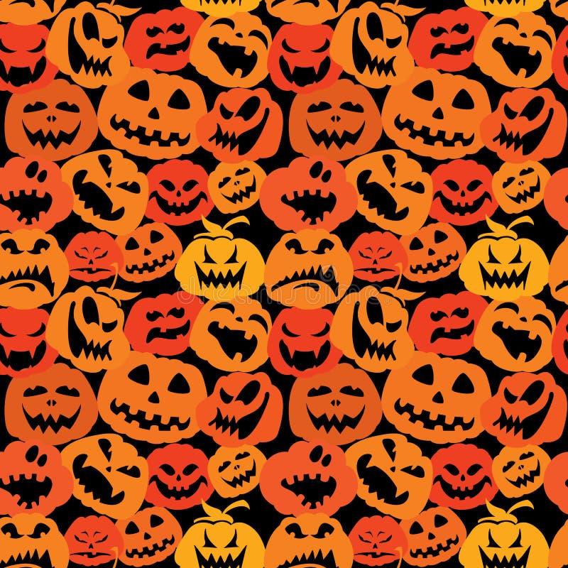 Download Modelo Inconsútil Con Las Caras De Las Calabazas - D De Halloween Ilustración del Vector - Ilustración de goth, miedo: 44850687