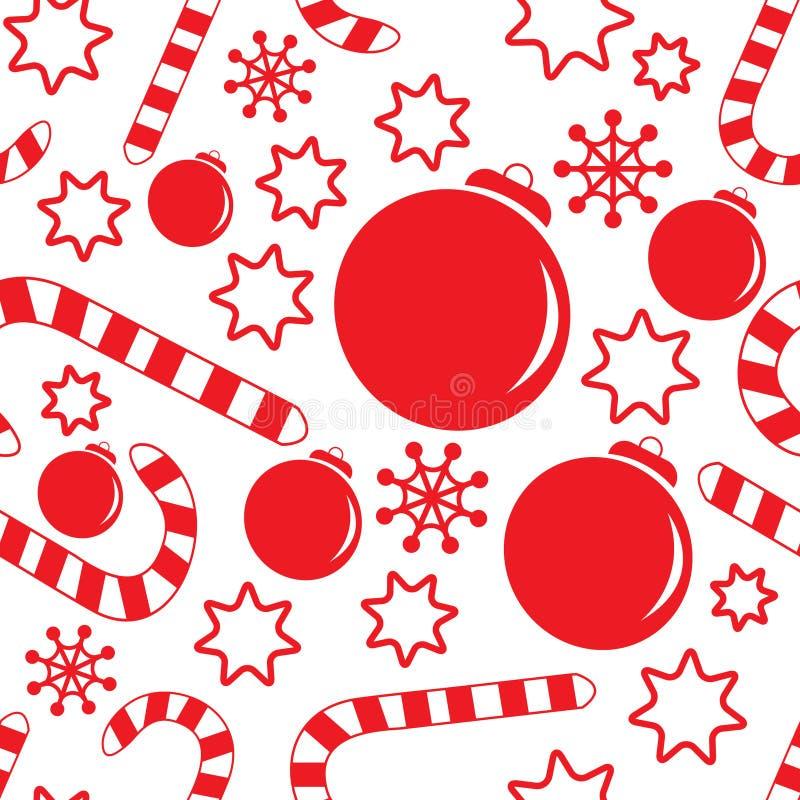 Modelo inconsútil con las decoraciones de la Navidad libre illustration