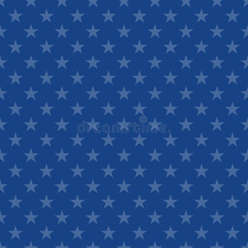 Modelo inconsútil con las estrellas ilustración del vector