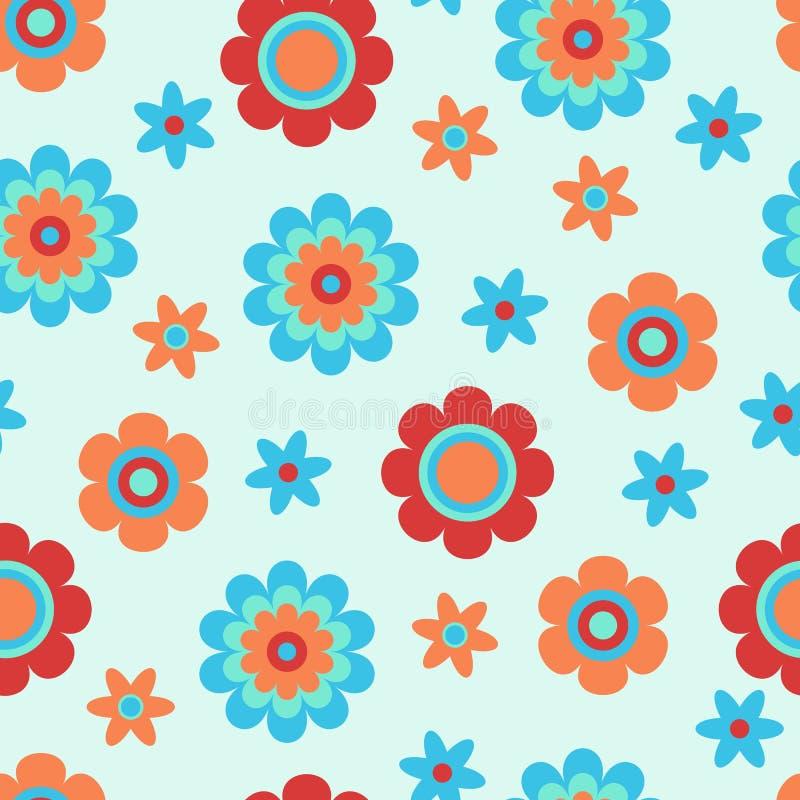 Modelo inconsútil con las flores decorativas creativas Grande para la tela, materia textil Fondo del vector stock de ilustración