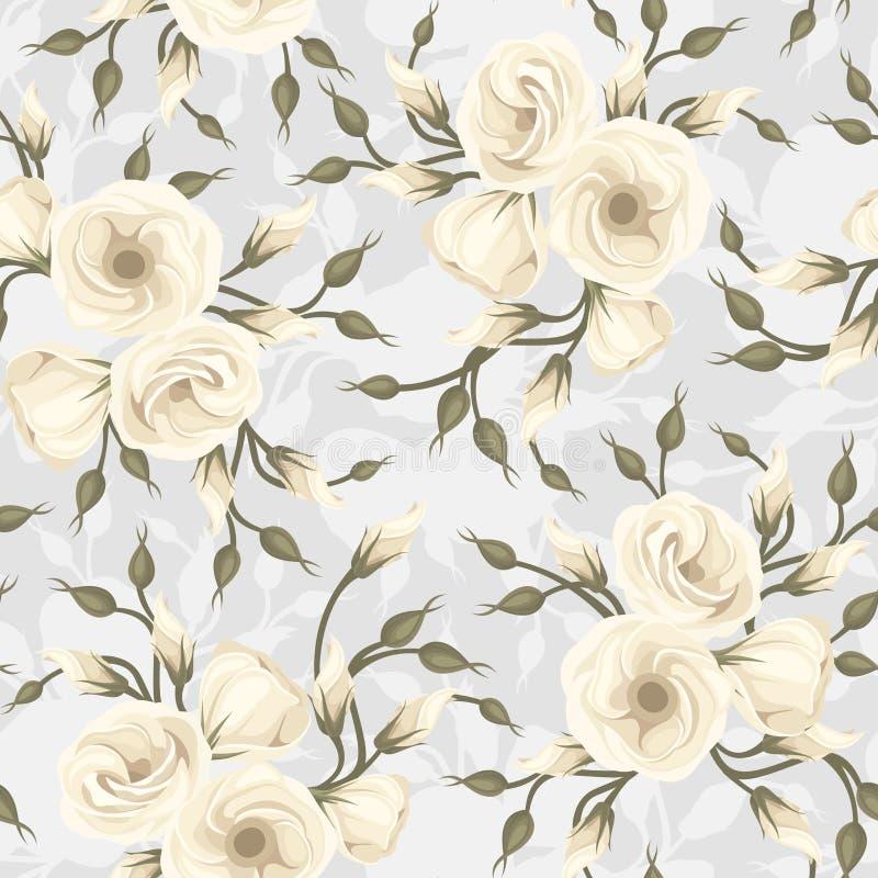 Modelo inconsútil con las flores del lisianthus. Vector. libre illustration
