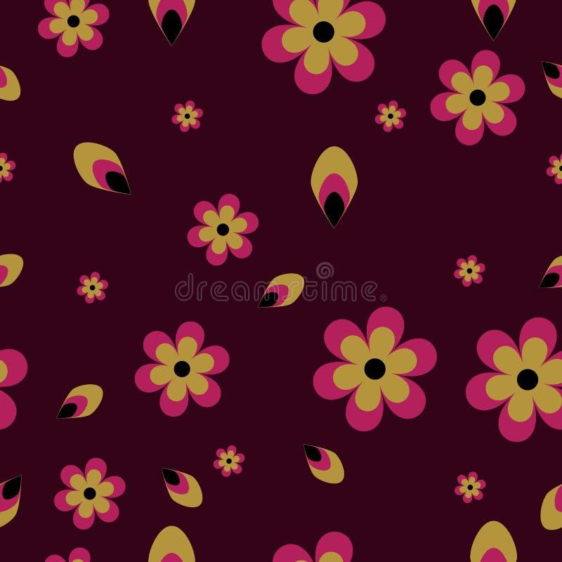 Modelo inconsútil con las flores florecientes y las mariposas que vuelan en estilo de la acuarela Belleza en naturaleza libre illustration