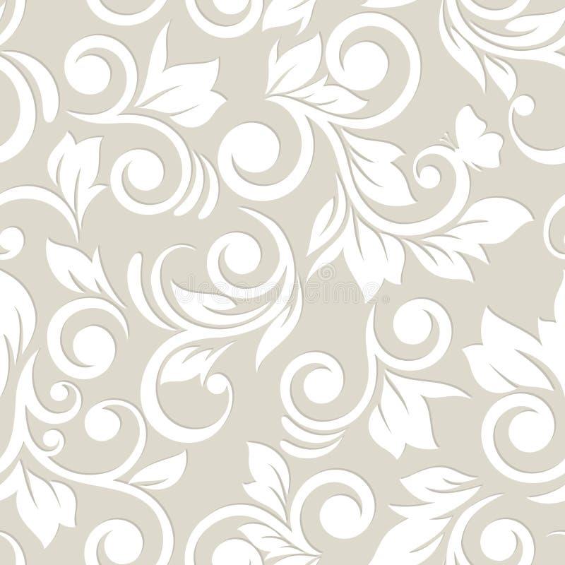 Modelo inconsútil con las flores y las hojas Modelo 08 goma libre illustration