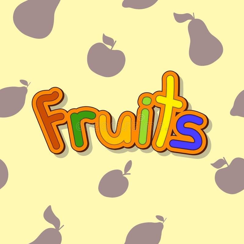 Modelo inconsútil con las frutas libre illustration