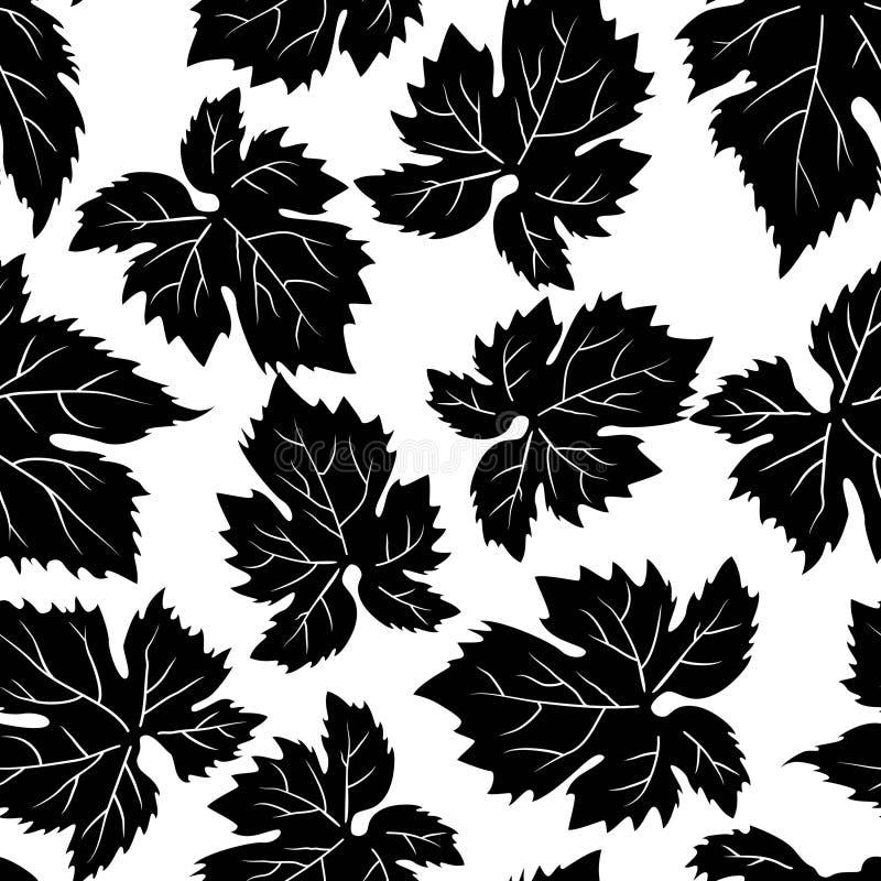 Modelo inconsútil con las hojas de la uva libre illustration