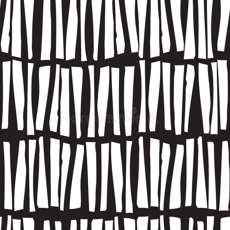 Modelo inconsútil con las líneas verticales dibujadas mano Vector stock de ilustración