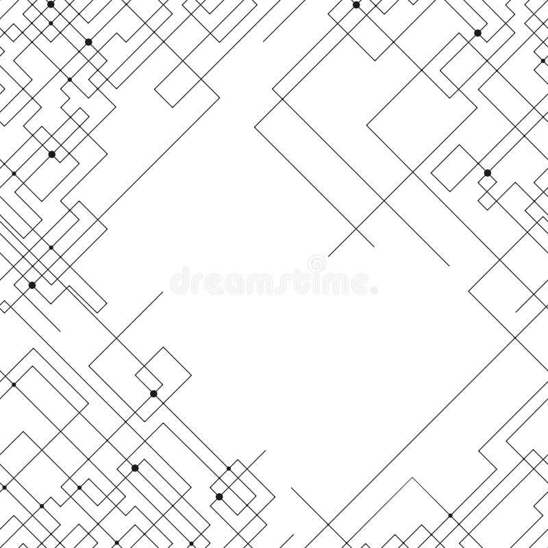 Modelo inconsútil con las líneas y los puntos conectados libre illustration