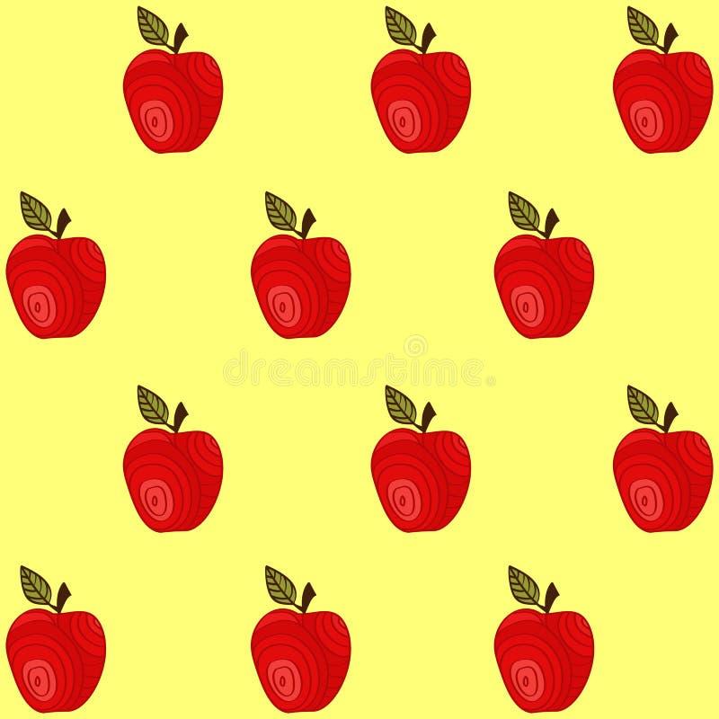 Download Modelo Inconsútil Con Las Manzanas Ilustración del Vector - Ilustración de sano, lindo: 64207273