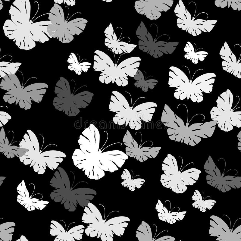 Modelo inconsútil con las mariposas stock de ilustración