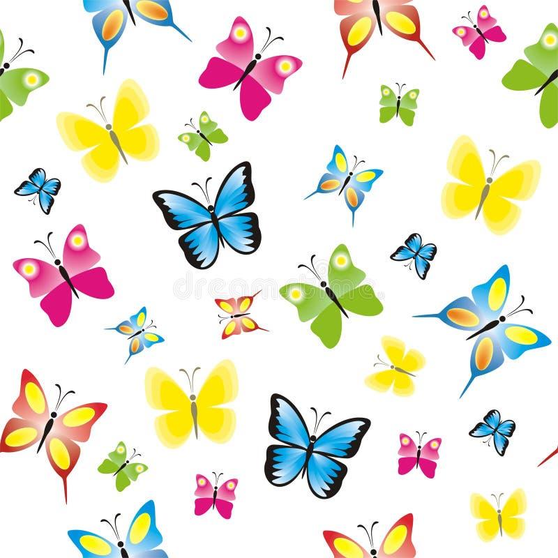 Modelo inconsútil con las mariposas coloridas libre illustration
