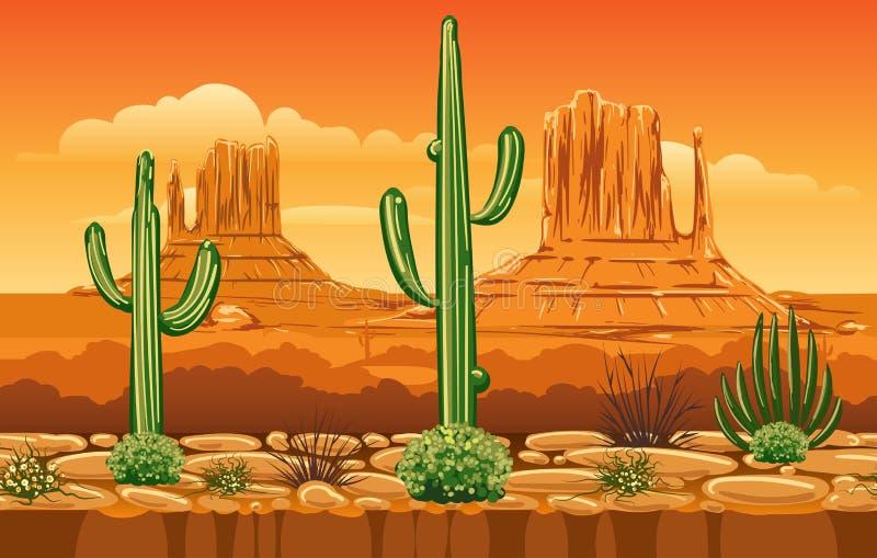 Modelo inconsútil con las montañas del oeste salvajes libre illustration