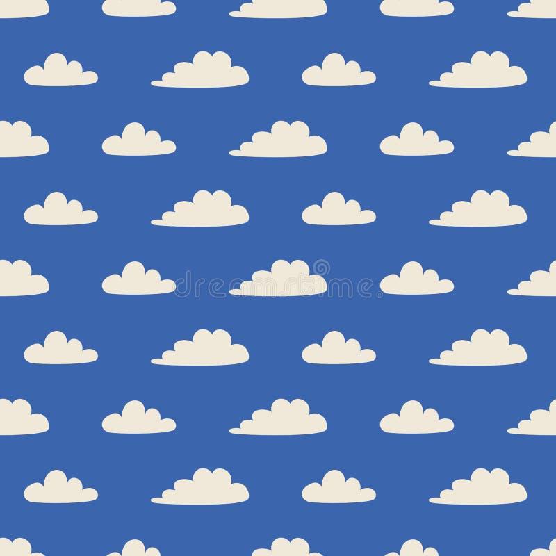 Modelo inconsútil con las nubes en estilo escandinavo imágenes de archivo libres de regalías