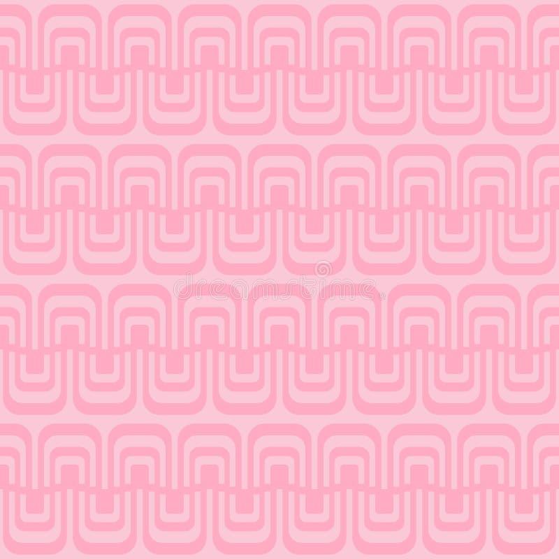 Modelo inconsútil con las ondas geométricas libre illustration