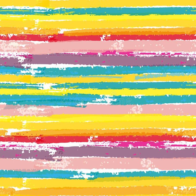 Modelo inconsútil con las rayas del color de la pintura imágenes de archivo libres de regalías
