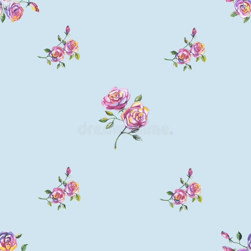 Download Modelo Inconsútil Con Las Rosas Hermosas Ilustración del Vector - Ilustración de hoja, ilustraciones: 41900295