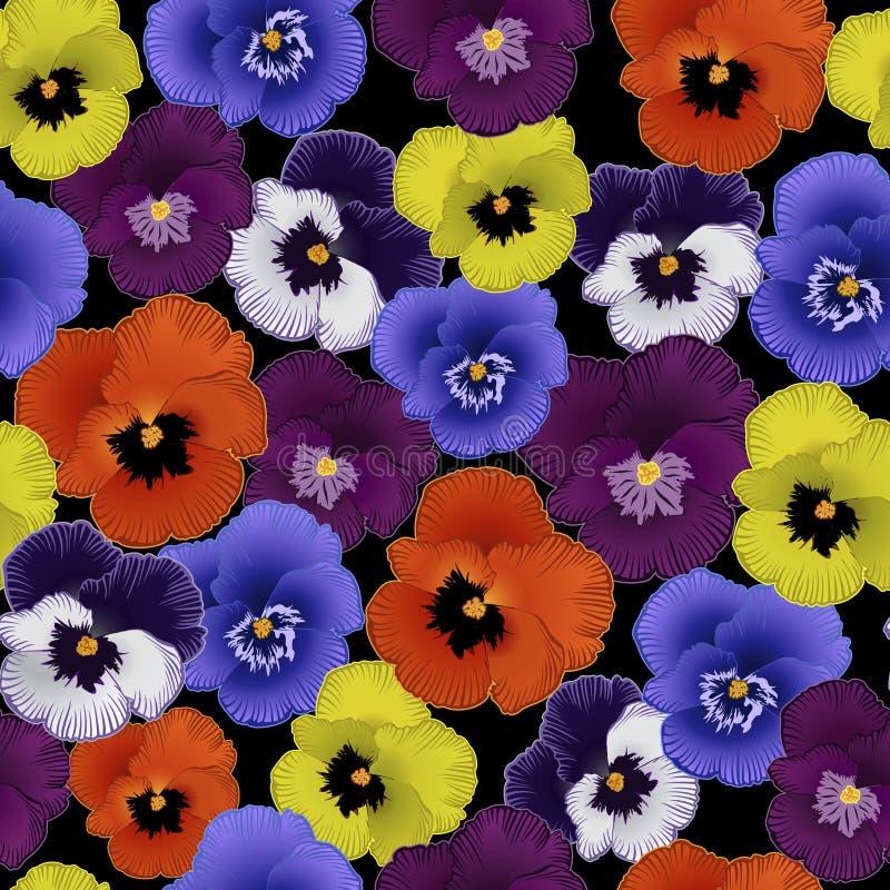 Modelo inconsútil con las violetas de las flores stock de ilustración