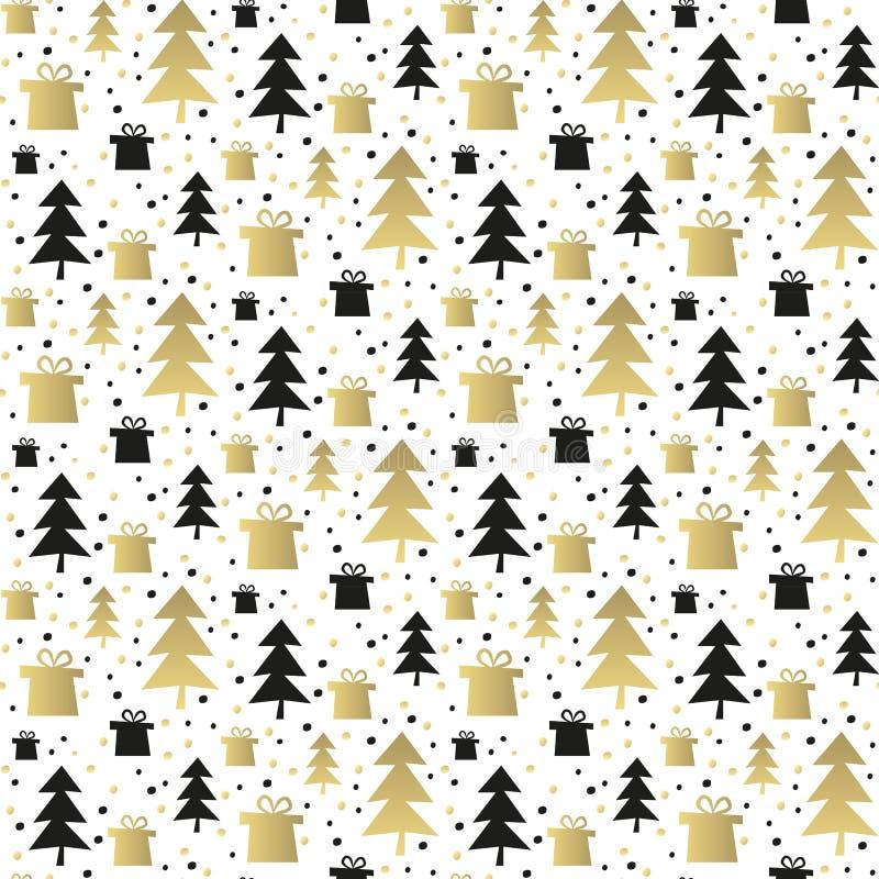 Modelo inconsútil con los árboles de navidad ilustración del vector