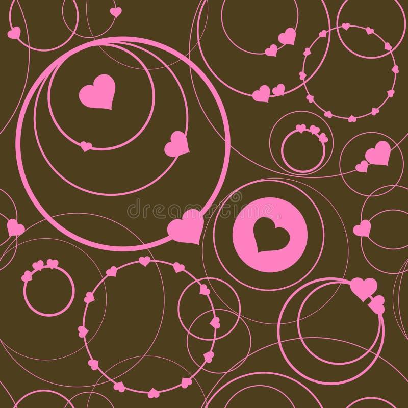 Modelo inconsútil con los anillos y los corazones libre illustration