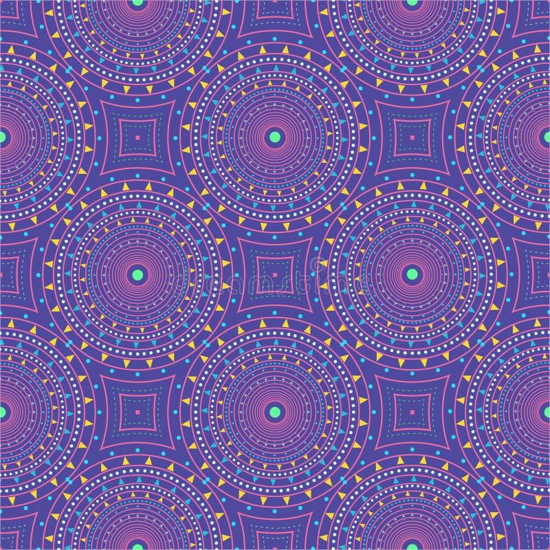 Modelo inconsútil con los círculos punteados Vector que repite textura Fondo con estilo stock de ilustración