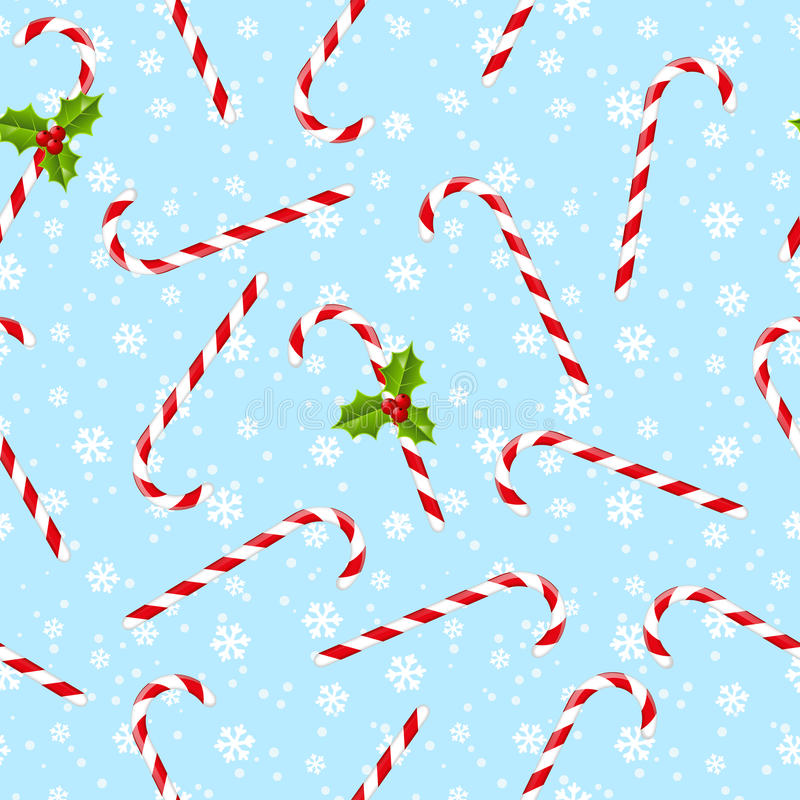 Modelo inconsútil con los caramelos de la Navidad stock de ilustración