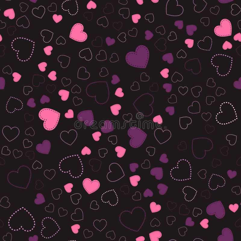 Modelo inconsútil con los corazones Corazones rosados Modelo romántico ilustración del vector