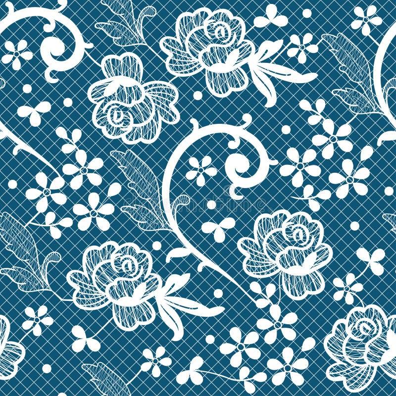 Modelo inconsútil con los cordones y los adornos florales libre illustration