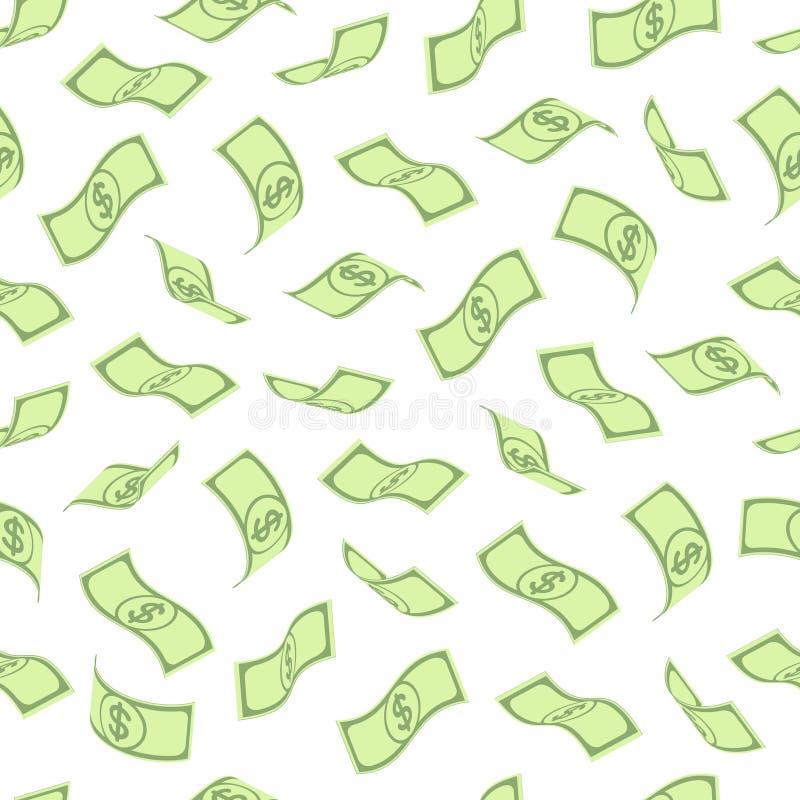 Modelo inconsútil con los dólares ilustración del vector