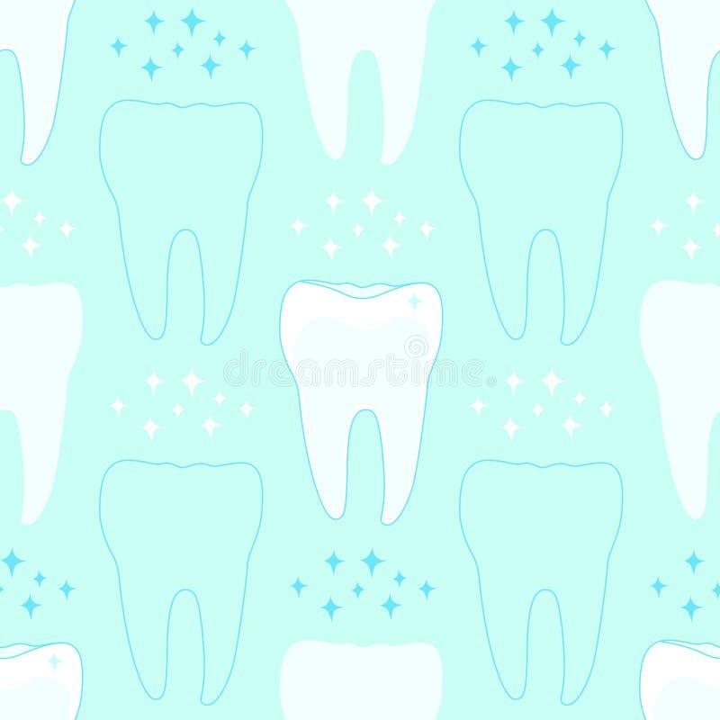 Modelo inconsútil con los dientes libre illustration