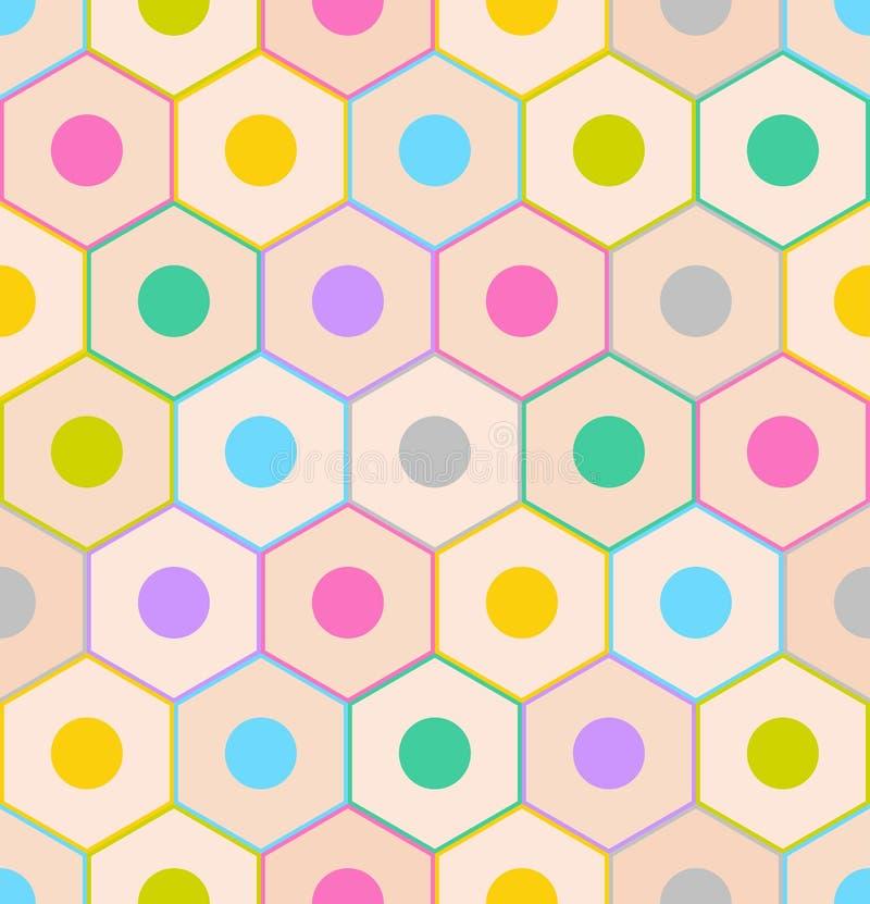 Modelo inconsútil con los extremos coloridos del lápiz ilustración del vector