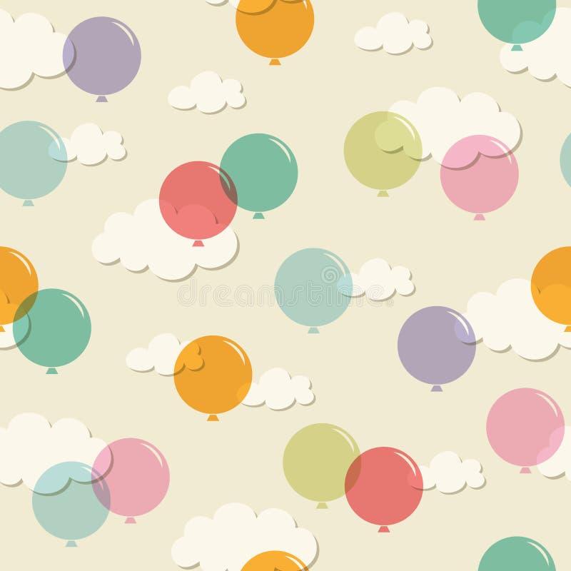 Modelo inconsútil con los globos libre illustration