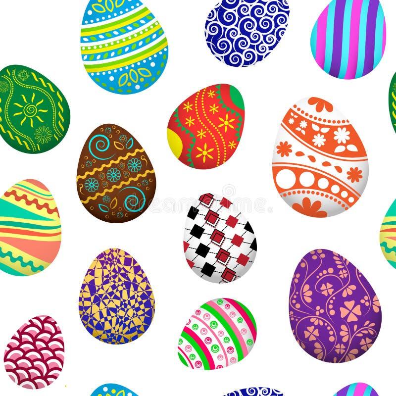 Modelo inconsútil con los huevos de Pascua Ilustración del vector libre illustration