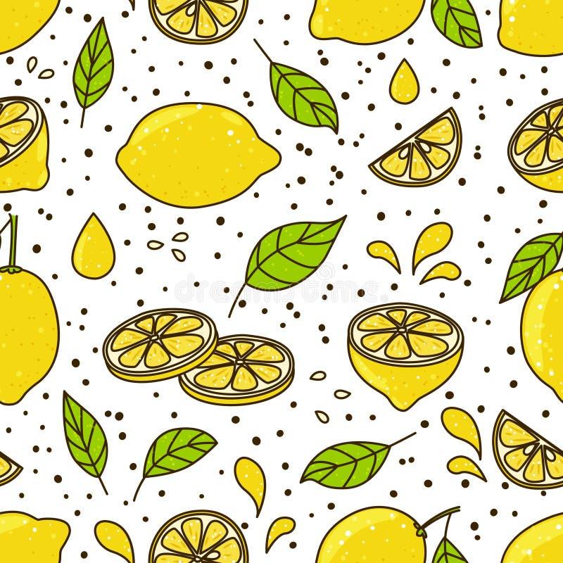 Modelo inconsútil con los limones libre illustration