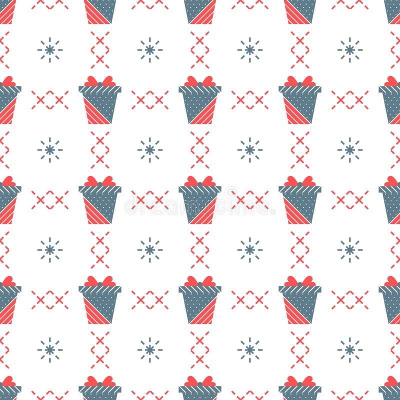 Modelo inconsútil con los rectángulos de regalo libre illustration