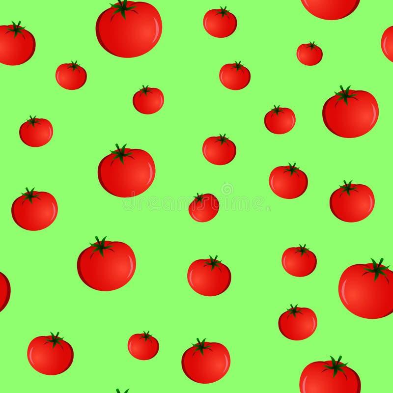 Modelo inconsútil con los tomates stock de ilustración