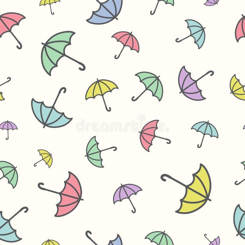 Modelo inconsútil con paraguas ilustración del vector