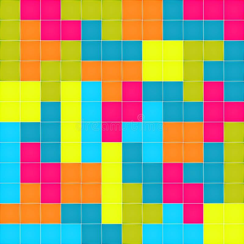 Modelo inconsútil con rompecabezas colorido de los bloques stock de ilustración