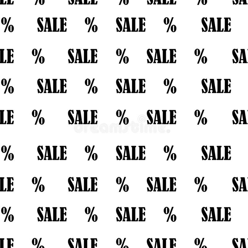 Modelo inconsútil con venta y el por ciento de texto Fondo de la venta de Black Friday ilustración del vector
