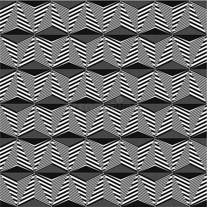 Modelo inconsútil contorneado negro ejemplo abstracto del vector ilustración del vector