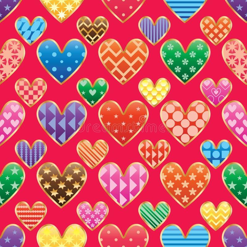 Modelo inconsútil cortado modelo de la simetría colorida del amor libre illustration
