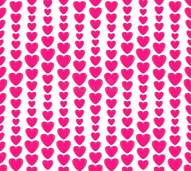 Modelo inconsútil, día del ` s de la tarjeta del día de San Valentín, amor, corazón de un color púrpura, en un fondo blanco libre illustration
