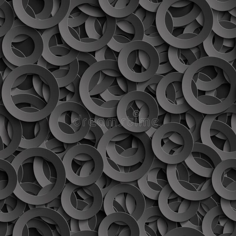 modelo inconsútil 3D con los círculos cortados papel libre illustration