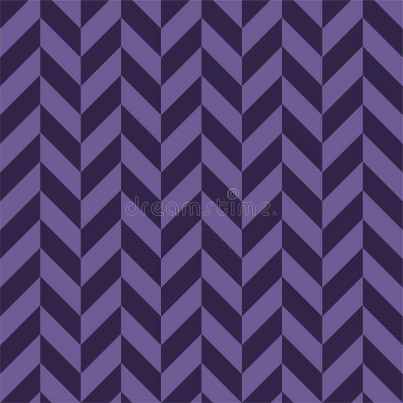 Modelo inconsútil de alternancia púrpura vibrante de Chevron ilustración del vector