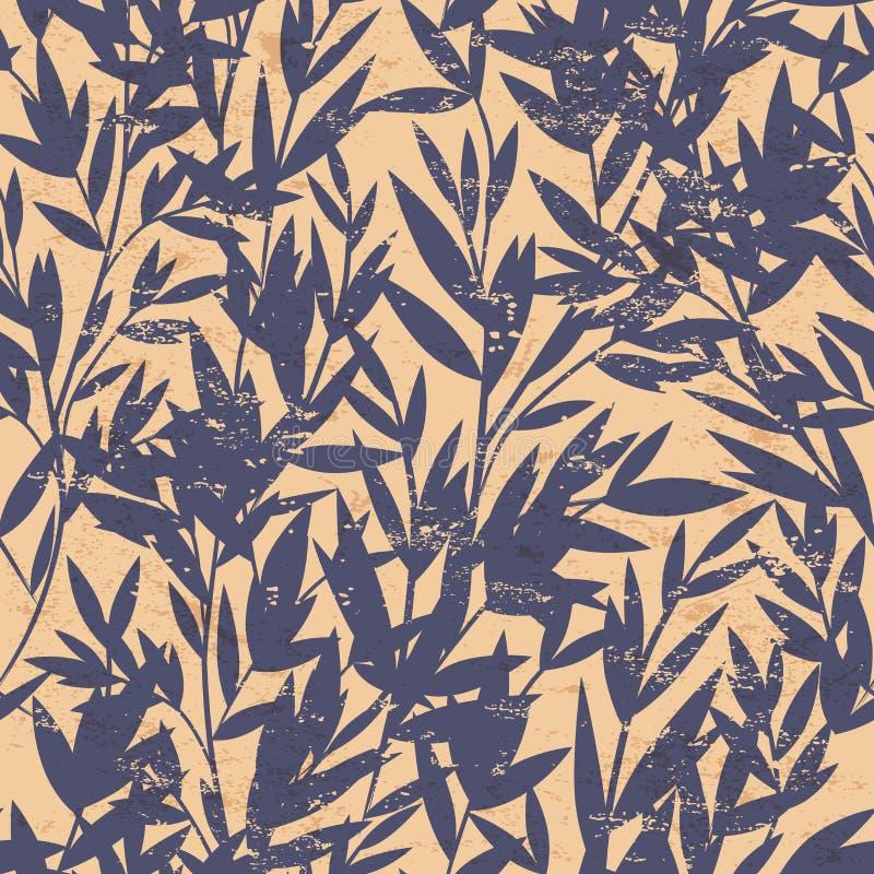 Modelo inconsútil de bambú floral del vector ilustración del vector