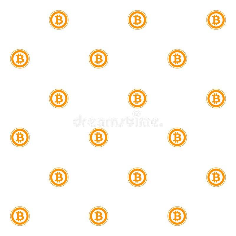 Modelo inconsútil de Bitcoin plano stock de ilustración
