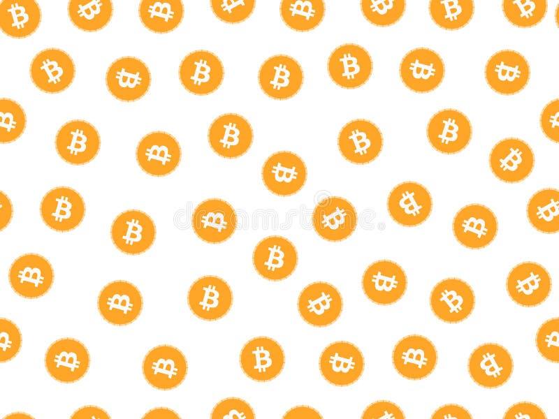 Modelo inconsútil de Bitcoin Sistema monetario Vector stock de ilustración
