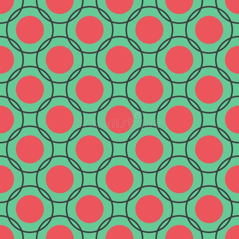 Modelo inconsútil de círculos stock de ilustración